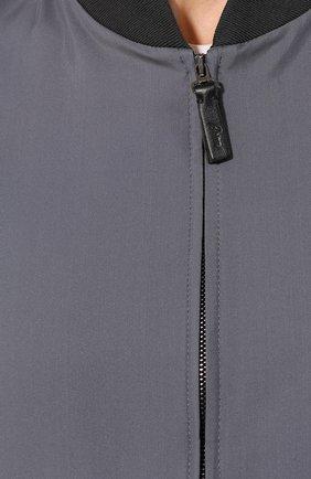Мужской шелковый бомбер BRIONI серого цвета, арт. SLQJ0L/P843X | Фото 5