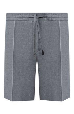Мужские льняные шорты BRIONI серого цвета, арт. RPP10L/P6114/NEW SIDNEY | Фото 1