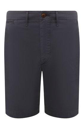 Мужские хлопковые шорты RRL темно-синего цвета, арт. 782784222 | Фото 1
