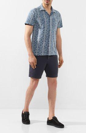 Мужские хлопковые шорты RRL темно-синего цвета, арт. 782784222 | Фото 2