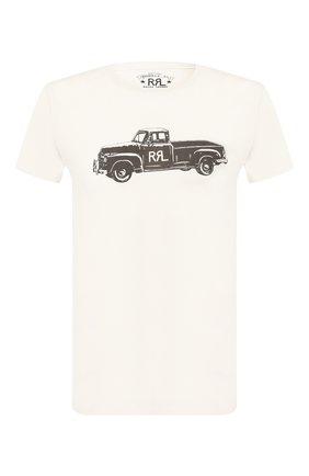 Мужская хлопковая футболка RRL белого цвета, арт. 782759298 | Фото 1