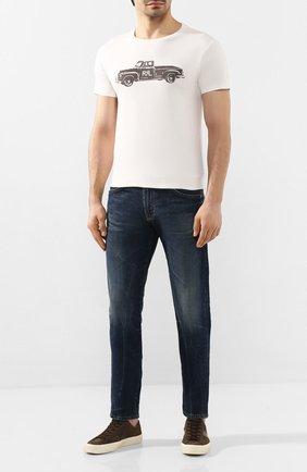 Мужская хлопковая футболка RRL белого цвета, арт. 782759298 | Фото 2