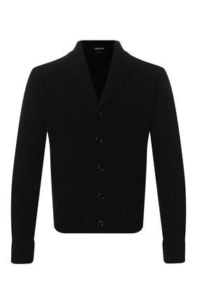 Мужской кашемировый кардиган TOM FORD черного цвета, арт. BUK82/TFK154 | Фото 1 (Материал внешний: Шерсть, Кашемир; Рукава: Длинные; Длина (для топов): Стандартные; Стили: Классический; Мужское Кросс-КТ: Кардиган-одежда)