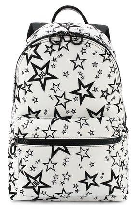 Мужской текстильный рюкзак vulcano DOLCE & GABBANA черно-белого цвета, арт. BM1607/AJ610 | Фото 1