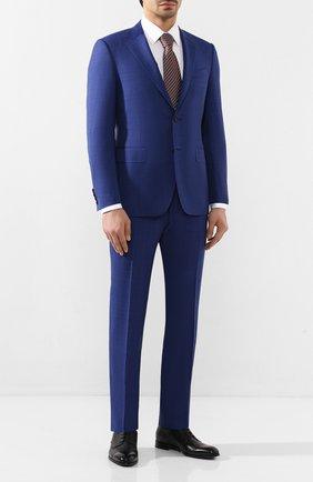 Мужской шерстяной костюм CANALI синего цвета, арт. T11280/19/BX00219   Фото 1