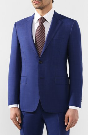 Мужской шерстяной костюм CANALI синего цвета, арт. T11280/19/BX00219   Фото 2