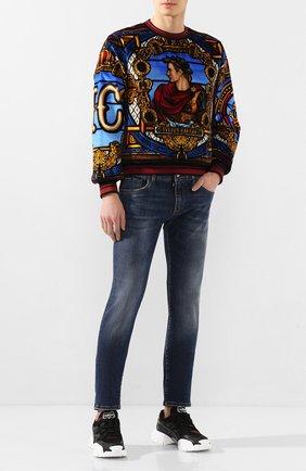 Мужские джинсы DOLCE & GABBANA синего цвета, арт. GY07LD/G8BY5   Фото 2