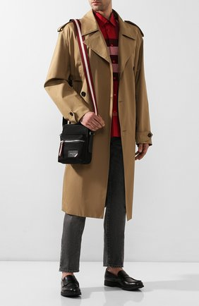 Мужская текстильная сумка faara BALLY черного цвета, арт. FAARA/00 | Фото 2 (Ремень/цепочка: На ремешке; Материал: Текстиль)