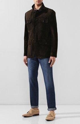 Мужской кожаные дерби ALDO BRUE светло-бежевого цвета, арт. AB7105J-NS   Фото 2