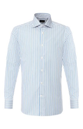 Мужская хлопковая сорочка ERMENEGILDO ZEGNA синего цвета, арт. 701208/9MS0BA | Фото 1