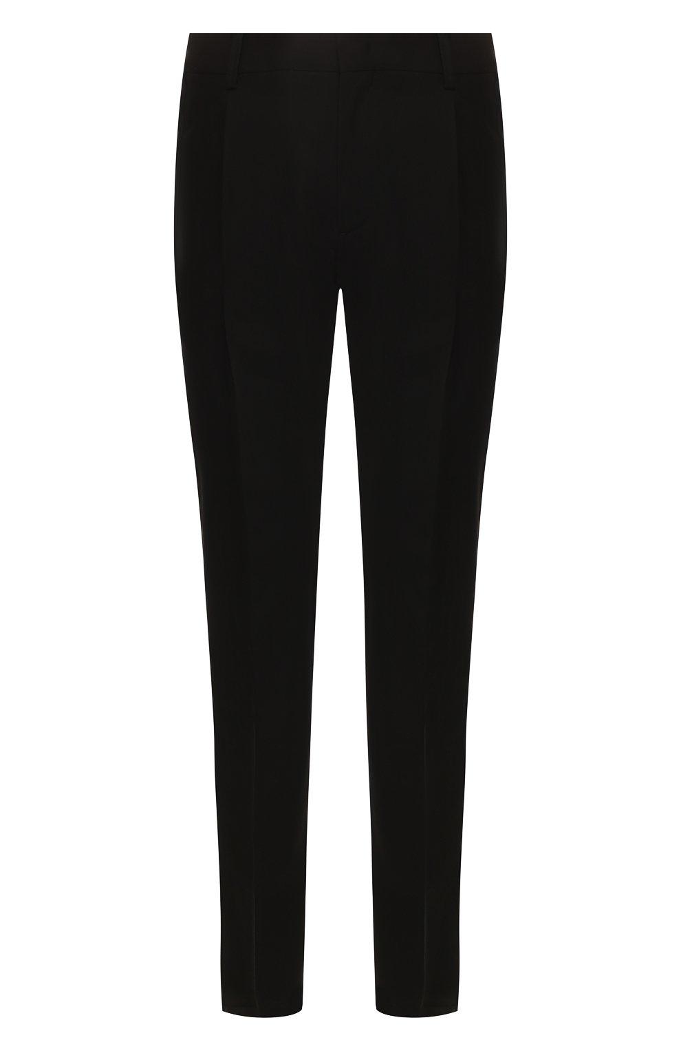 Мужские шерстяные брюки GIORGIO ARMANI черного цвета, арт. 0SGPP0B7/T0075   Фото 1