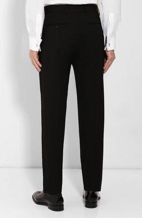 Мужские шерстяные брюки GIORGIO ARMANI черного цвета, арт. 0SGPP0B7/T0075   Фото 4