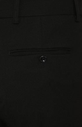 Мужские шерстяные брюки GIORGIO ARMANI черного цвета, арт. 0SGPP0B7/T0075   Фото 5
