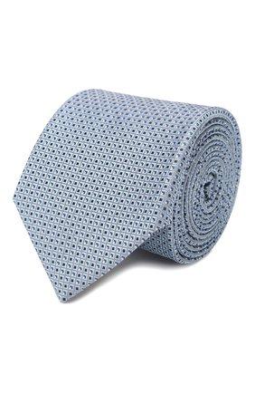 Мужской шелковый галстук CANALI голубого цвета, арт. 18/HJ02706   Фото 1