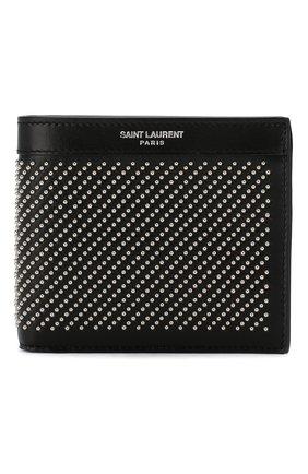 Мужской кожаное портмоне SAINT LAURENT черного цвета, арт. 361320/0VGUE | Фото 1
