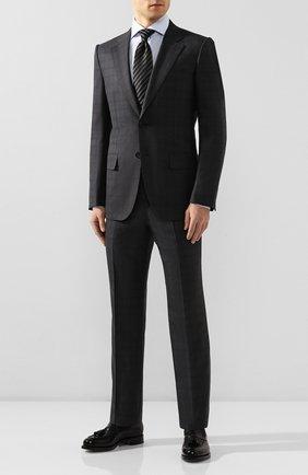 Мужской костюм из смеси шерсти и шелка ZEGNA COUTURE серого цвета, арт. 744N06/21L2N5 | Фото 1
