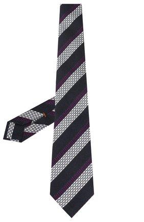 Мужской шелковый галстук ZEGNA COUTURE фиолетового цвета, арт. Z7C01/15C | Фото 2