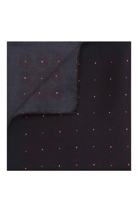 Мужской шелковый платок ZEGNA COUTURE темно-синего цвета, арт. Z7J54/3CE | Фото 1