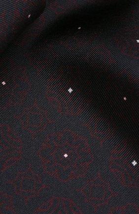 Мужской шелковый платок ZEGNA COUTURE темно-синего цвета, арт. Z7J54/3CE | Фото 2