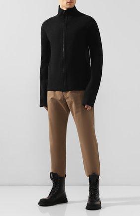 Мужской кардиган из смеси вискозы и шерсти BOTTEGA VENETA темно-серого цвета, арт. 601047/VKN30 | Фото 2