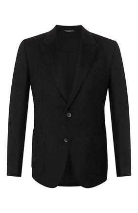 Мужской кашемировый пиджак DOLCE & GABBANA черного цвета, арт. 0101/G2KN7T/FU2AX   Фото 1