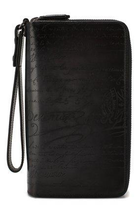 Мужской кожаный футляр для документов BERLUTI темно-серого цвета, арт. N057519 | Фото 1