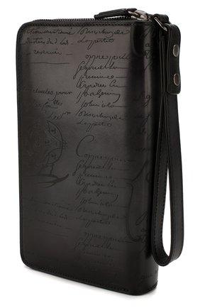 Мужской кожаный футляр для документов BERLUTI темно-серого цвета, арт. N057519 | Фото 2