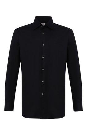Мужская хлопковая сорочка BRIONI темно-синего цвета, арт. RCL90M/PZ023   Фото 1