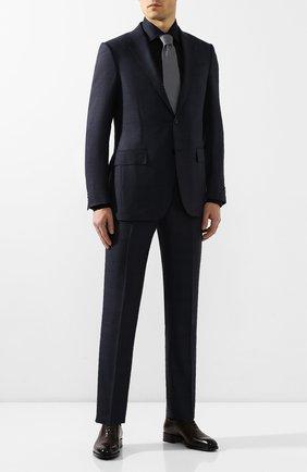 Мужская хлопковая сорочка BRIONI темно-синего цвета, арт. RCL90M/PZ023   Фото 2