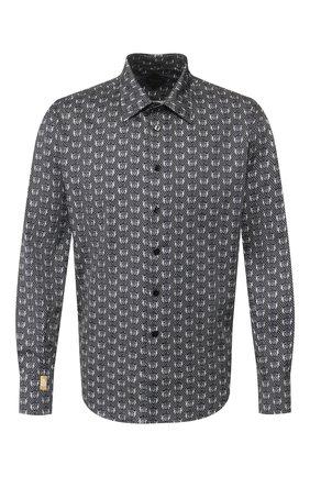 Мужская хлопковая рубашка BILLIONAIRE черного цвета, арт. B20C MRP1160 BTE002N | Фото 1