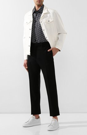 Мужская хлопковая рубашка BILLIONAIRE черного цвета, арт. B20C MRP1160 BTE002N | Фото 2
