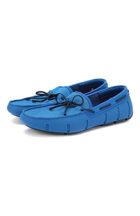 Мужские мокасины SWIMS синего цвета, арт. 031   Фото 1 (Материал внешний: Текстиль; Стили: Кэжуэл)