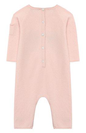 Детский кашемировый комбинезон OSCAR ET VALENTINE розового цвета, арт. COM01BEAR | Фото 2