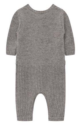 Детский кашемировый комбинезон OSCAR ET VALENTINE серого цвета, арт. GRE02 | Фото 2