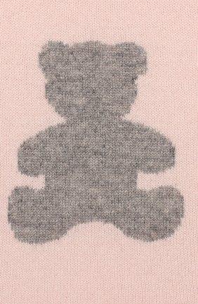 Детский кашемировый пуловер OSCAR ET VALENTINE розового цвета, арт. PULBEAR1S   Фото 3