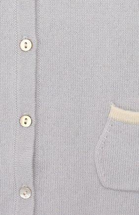 Детский кашемировый комбинезон OSCAR ET VALENTINE голубого цвета, арт. COM02   Фото 3