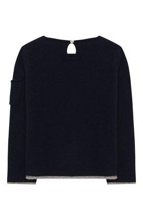 Детский кашемировый пуловер OSCAR ET VALENTINE синего цвета, арт. PUL01ROCKS | Фото 2
