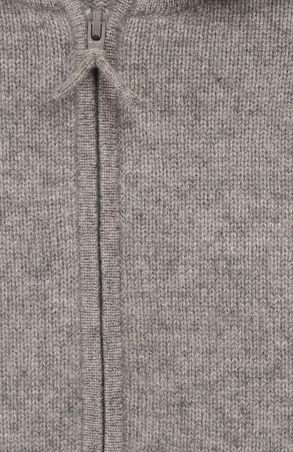 Детский кашемировая толстовка OSCAR ET VALENTINE серого цвета, арт. GIL01S | Фото 3