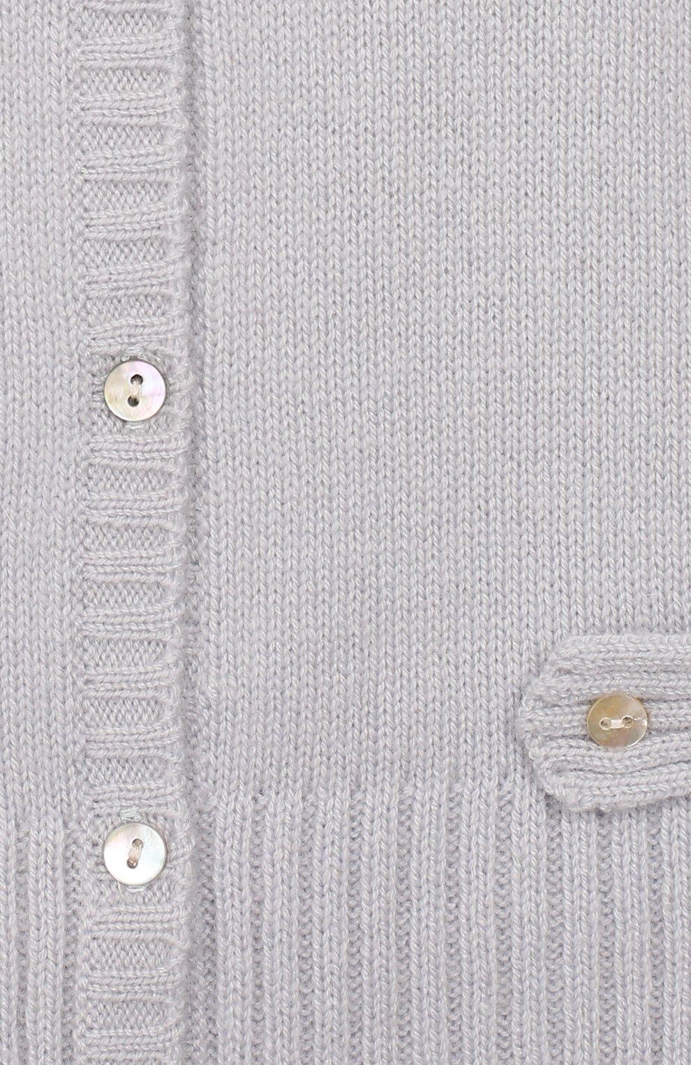 Детский кашемировый комбинезон OSCAR ET VALENTINE голубого цвета, арт. GRE02   Фото 3 (Материал внешний: Шерсть; Рукава: Длинные)