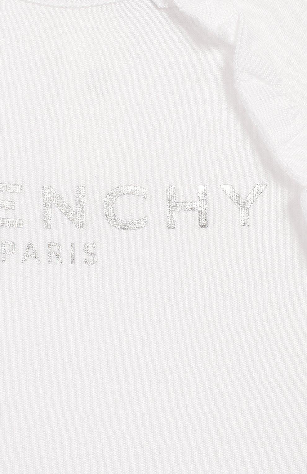 Детский футболка GIVENCHY белого цвета, арт. H05122   Фото 3