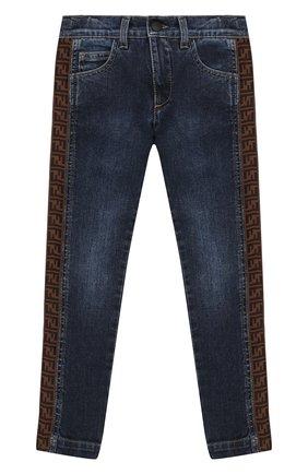 Детские джинсы FENDI синего цвета, арт. JMF247/AAC4/3A-6A | Фото 1