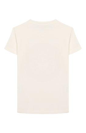Детская хлопковая футболка VERSACE белого цвета, арт. YC000278/YA00019/8A-14A | Фото 2