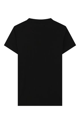 Детская хлопковая футболка VERSACE черного цвета, арт. YC000281/YA00019/8A-14A | Фото 2