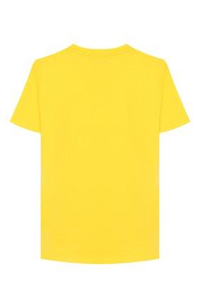 Детская хлопковая футболка VERSACE желтого цвета, арт. YD000201/YA00079/8A-14A | Фото 2