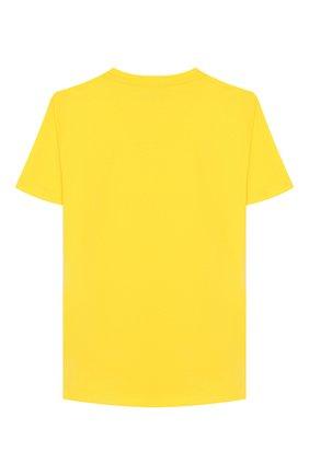 Детская хлопковая футболка VERSACE желтого цвета, арт. YD000201/YA00079/4A-6A | Фото 2