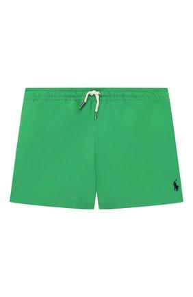 Детские плавки-шорты POLO RALPH LAUREN зеленого цвета, арт. 321785582 | Фото 1
