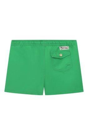 Детские плавки-шорты POLO RALPH LAUREN зеленого цвета, арт. 321785582 | Фото 2