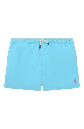 Детские плавки-шорты POLO RALPH LAUREN бирюзового цвета, арт. 323785582 | Фото 1
