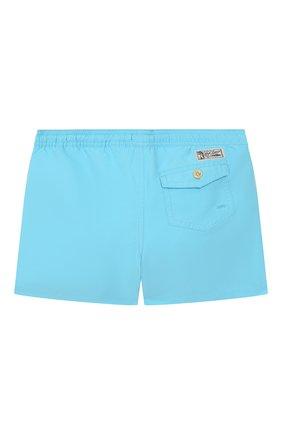 Детские плавки-шорты POLO RALPH LAUREN бирюзового цвета, арт. 323785582 | Фото 2