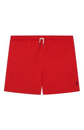 Детские плавки-шорты POLO RALPH LAUREN красного цвета, арт. 323785582 | Фото 1